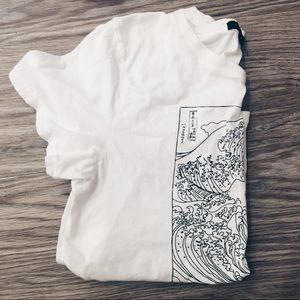 Pacsun white graphic tee